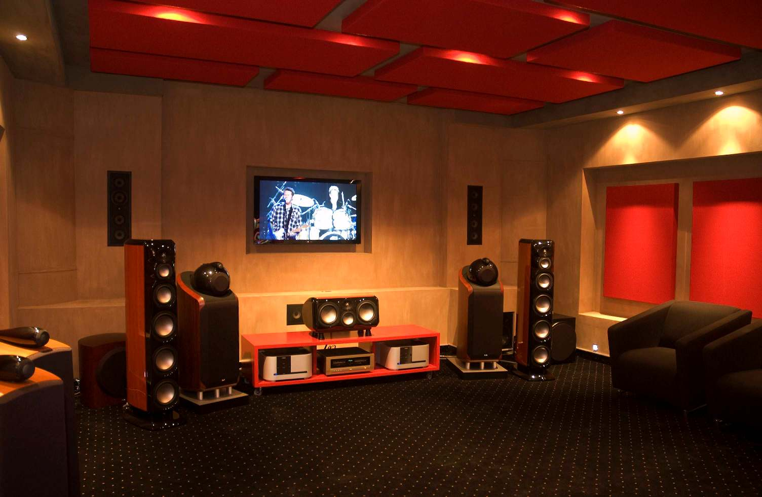 home theater tv stereo media room installer designer audio video innovations victoria texas - Home Theatre Designs